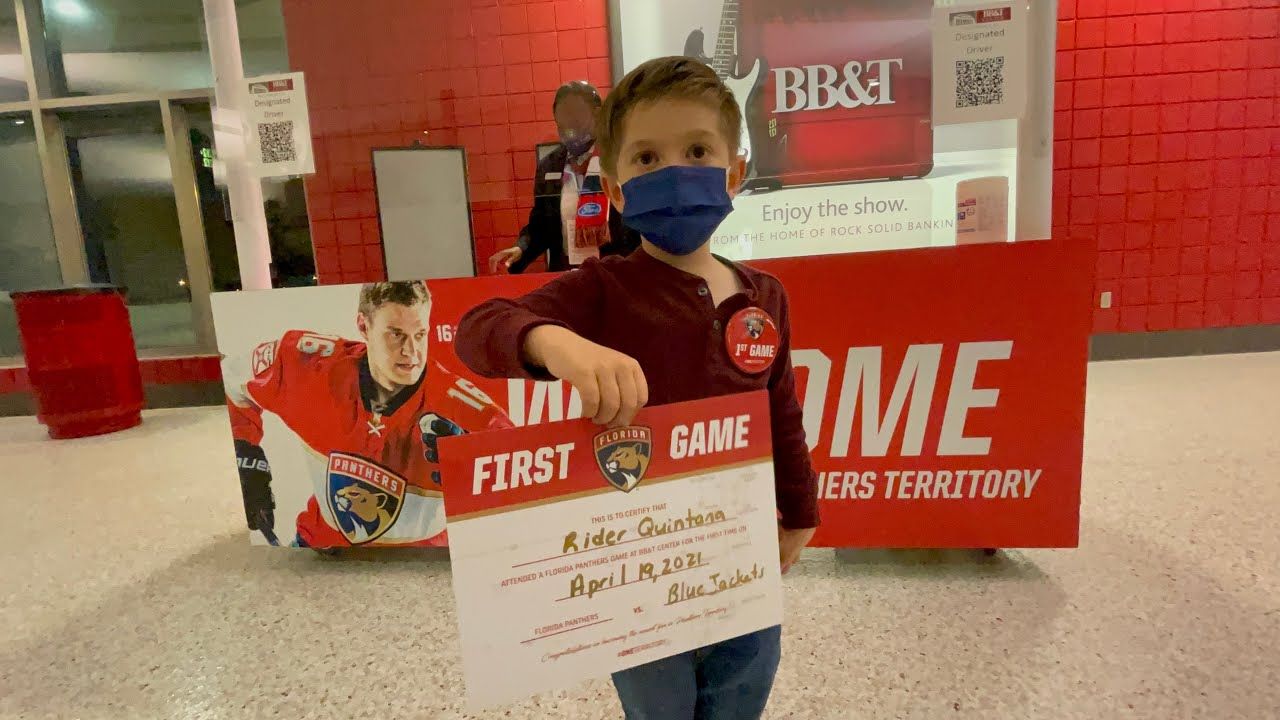 Our First Florida Panthers Game at The BB&T Center | Safety Protocols in Place