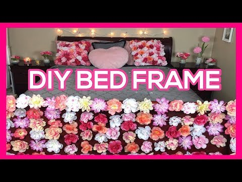 DIY BEDFRAME AND THROW PILLOWS FLOWER BED