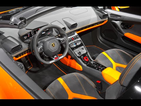 Lamborghini Huracán Spyder INTERIOR 2017 Lambo Huracán Roof Up Down CARJAM  TV HD