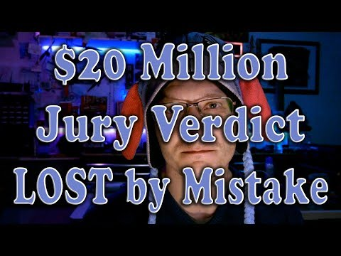 $20 Million Med-Mal judgment tossed for Legal Malpractice, J
