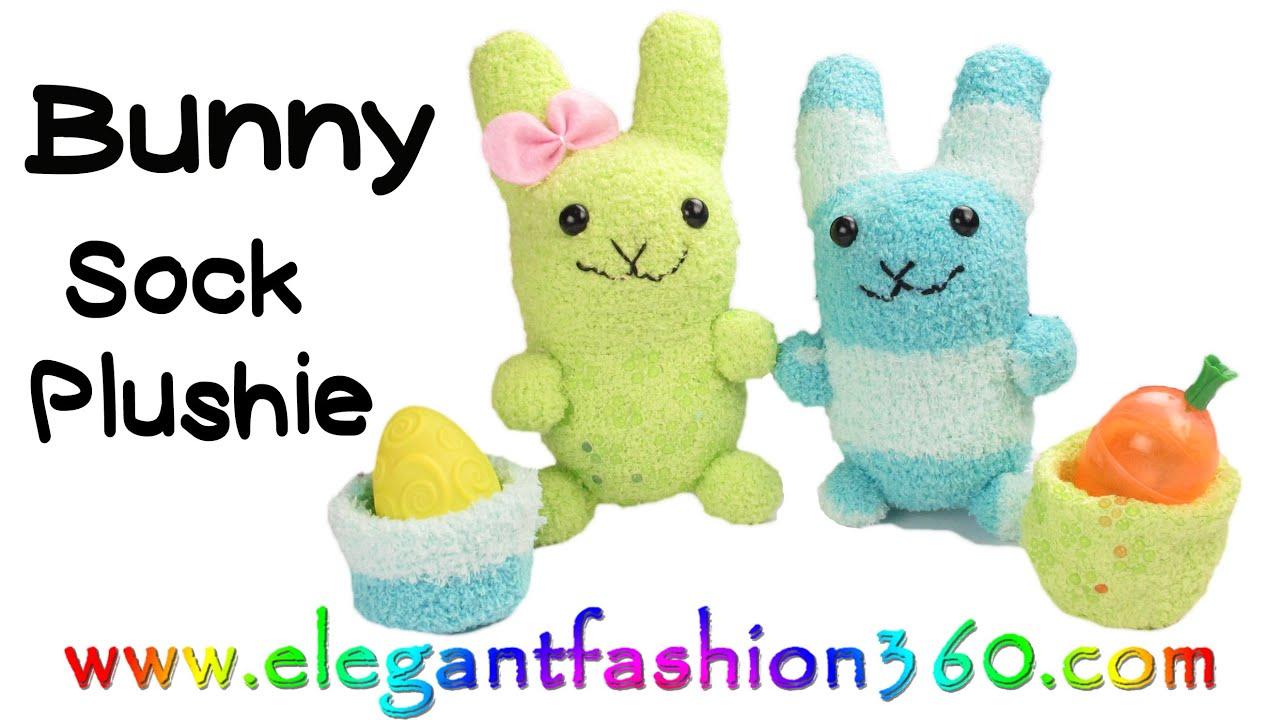 DIY Kawaii Bunny Sock PlushieStuffed AnimalEaster How
