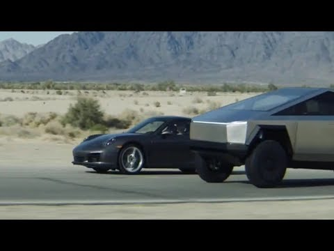 Tesla Cybertruck vs Porsche 911 - DRAG RACE | A Scene from Tesla's Event