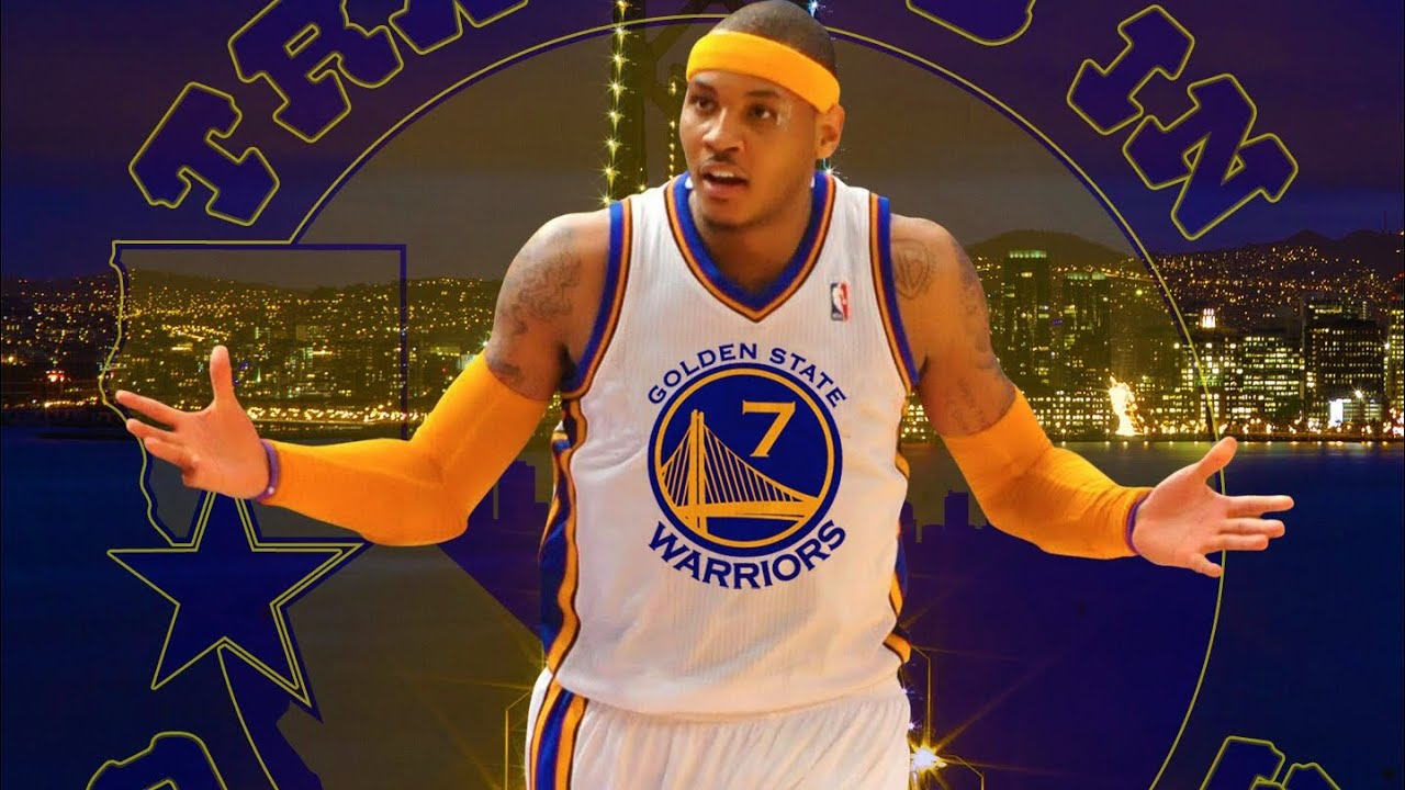 Резултат с изображение за carmelo anthony gsw jersey