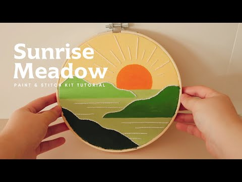 Sunsrise Meadow-Paint and Stitch Tutorial (WEST MOON)