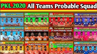 Vivo pro kabaddi 2020 all teams new squad for pro kabaddi season 8 2019 on sports action