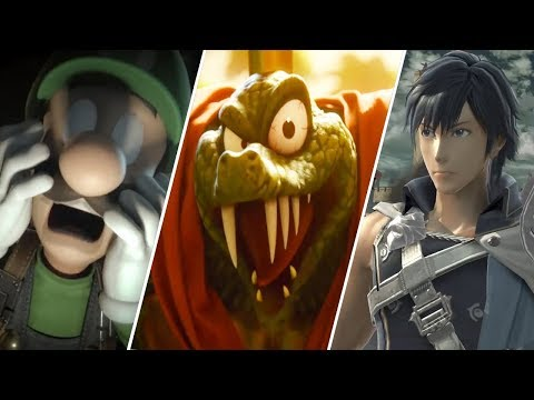 Super Smash Bros. Ultimate - All New Characters Trailers (8/8/18)