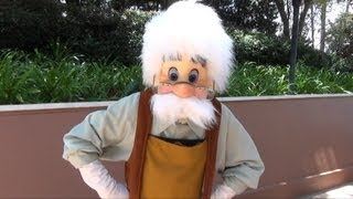 Geppeto Surprise Meet and Greet at Epcot, Walt Disney World - From Pinocchio
