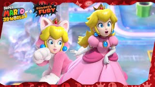Super Mario 3D World for Switch ᴴᴰ   World 3 (All Green Stars & Stamps) Solo Peach