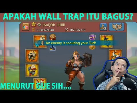 WALL TRAPS VS GEAR CHAMP DAN FAMILIAR MAX | LORDS MOBILE INDONESIA
