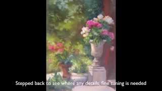 How To Paint A Garden With Oil Paint By Pat Fiorello