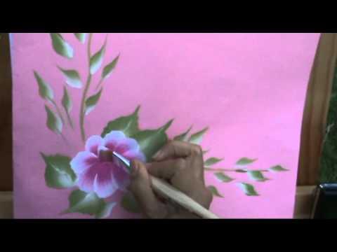 Aprende como pintar flores tipos de flores en 30 d as - Como decorar madera ...
