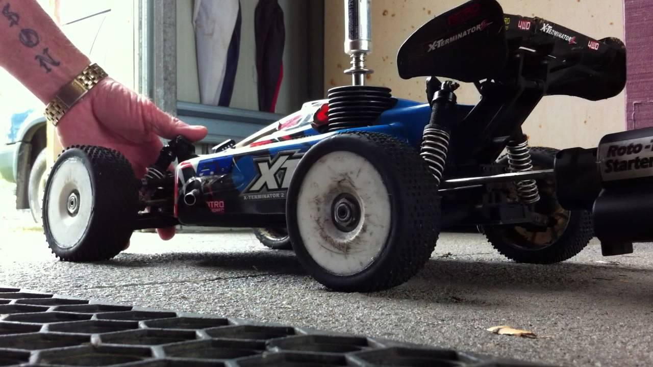 Nitro XTM-X2 1/8 Scale Buggy Start up  - YouTube