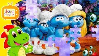 Smerfy Poszukiwacze Zaginionej Wioski Puzzle Dla Dzieci Z Bajki | Gry Zabawki Filmik Dla Dzieci [HD]