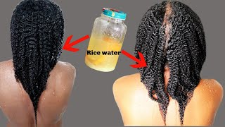 HOW TO PROPERLY USE RICE WATER FOR HAIR GROWTH ON NATURAL HAIR