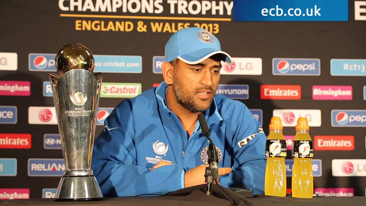 Alastair Cook And MS Dhoni Press Conference Ahead Of ICC Champions Trophy Final
