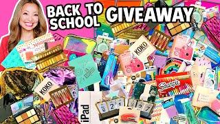 BIGGEST BACK TO SCHOOL GIVEAWAY EVER! 2020 (iPad, School Supplies Haul, Makeup)