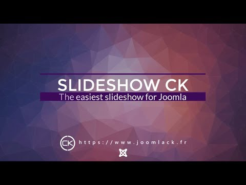 Slideshow CK For Joomla - Very Easy To Use