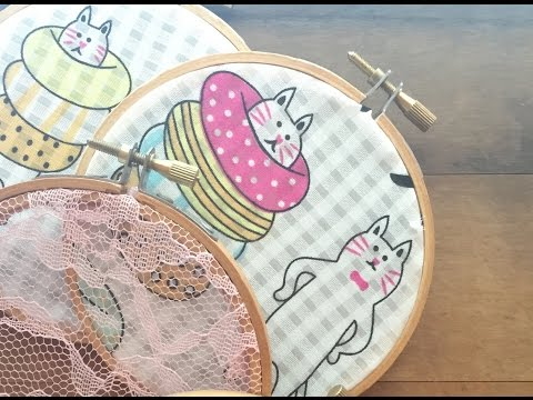 DIY - Fabric Embroidery Hoop Wall Art  | Easy & Simple Tutor