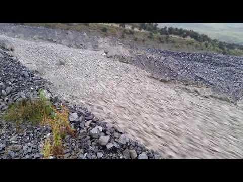 Heavy Rain From Ex Cyclone Gita Turns Rakaia River into a River of Rock