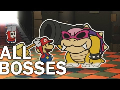 Paper Mario Color Splash: All Bosses and Ending (1080p 60fps)