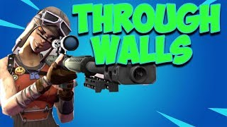 How To Shoot Through Walls In Fortnite Season 9 (Glitch / Sniper)