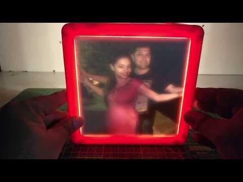 Customise Photo Frame With Backlight Colour