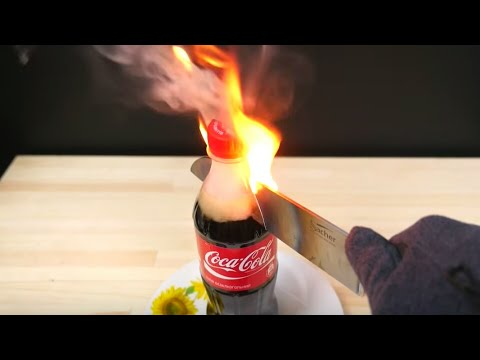 EXPERIMENT glowing 1000 degrees  KNIFE VS COCA-COLA | Dr.Home |