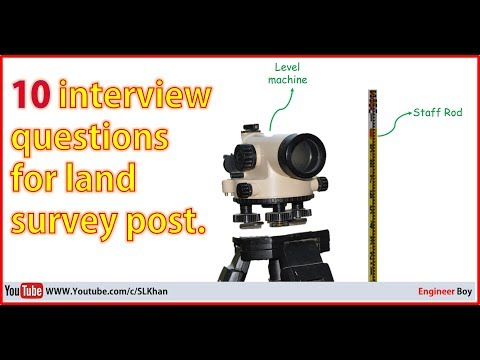 top asked interview questions for land surveyor post