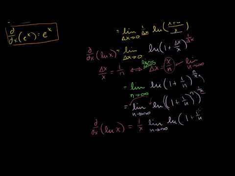 Производные функций ln(x) и е^х