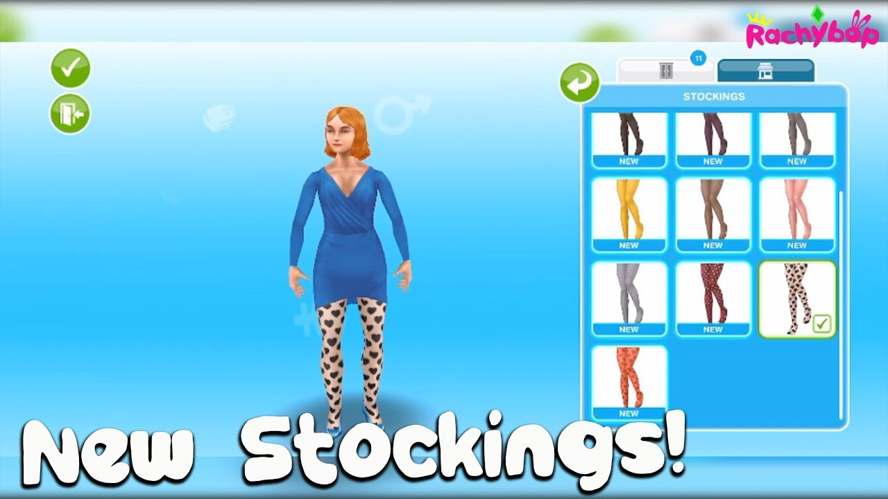 The Sims Freeplay Fashion Designer Hobby Event Prize Stockings Youtube