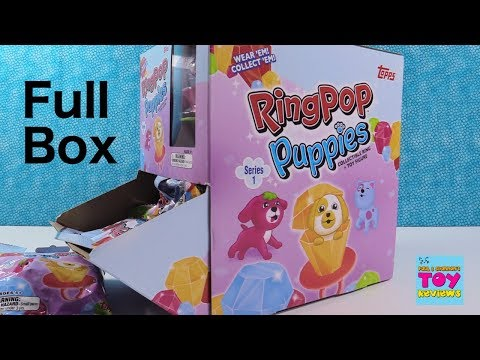 Ring Pop Puppies Series 1 Toy Figure Collection Toy Review   PSToyReviews