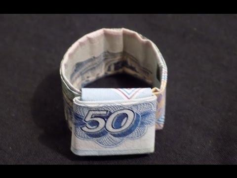 как сложить сердечко оригами из денег   Origami Dollar Heart
