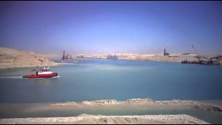 New Suez Canal sector East scene in March 23, 2015