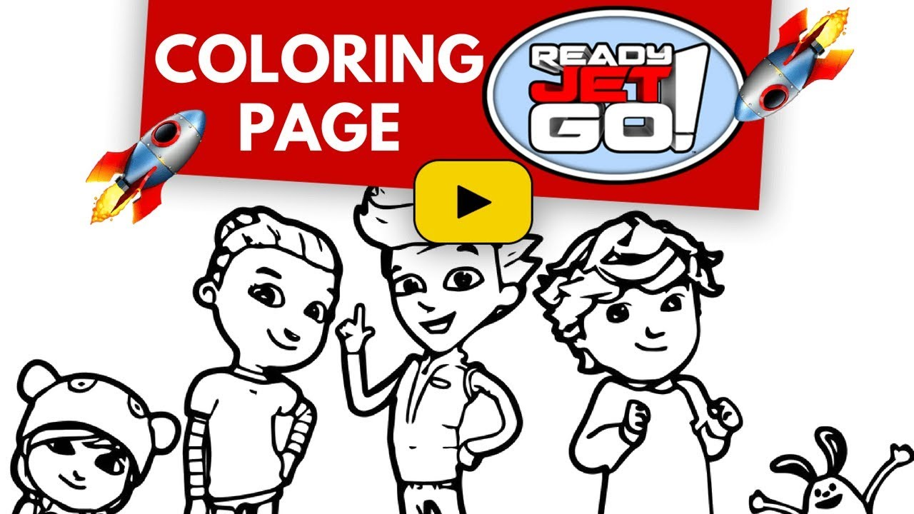 ready jet go coloring pages lets color the ready jet go cast