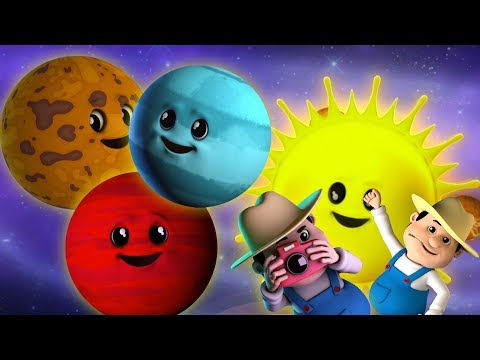 Planet Lagu | Lagu Tata Surya | Belajar video | Learn Planets Names | Baby Rhyme | Planets Song