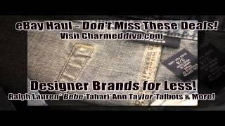 Ebay Haul Cheap Designer Clothes On Sale Ralph Lauren, Ann Taylor & More