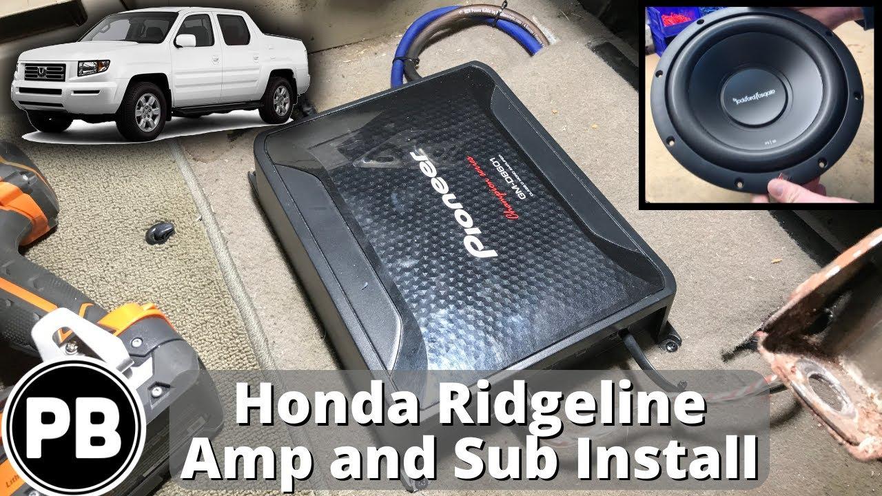 subs and amp wiring 2006 2014 honda ridgeline sub and amp install youtube  2006 2014 honda ridgeline sub and amp