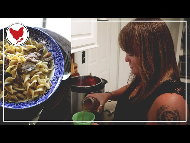 Super Easy Beef Stroganoff (Instant Pot Recipe)   A Good Life Farm