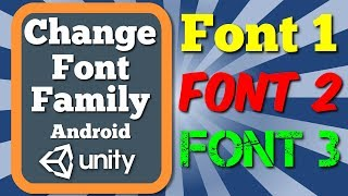 Unity Tutorial How To Change Font Family Option Of Text Gameobject With C# Script In Android Game