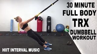 trx workout full body trx dumbbell hiit training suspension trainer workout
