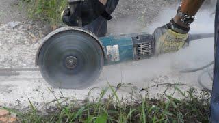 Пилим без пыли! Шайтер Андрей!(Время от времени приходится ставить диск по бетону, кирпичу, камню на болгарку, (УШМ) и работать не только..., 2016-08-24T17:35:39.000Z)
