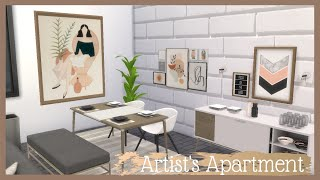 Artist's Apartment🎨| CC LINKS| The Sims 4 Speed Build 🚪