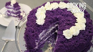 Red Ribbon Ube Overload - Filipino Purple Yam Chiffon Cake From Scratch | Cooking with Kurt