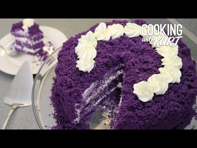 Red Ribbon Ube Overload - Filipino Purple Yam Chiffon Cake From Scratch | Cooking with Kurt