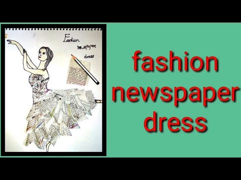 👉👉 fashion newspaper dress👗👗👈👈
