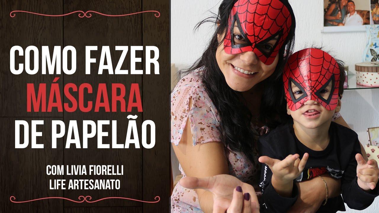 Diy Faça Você Mesmo Mascara De Papelão Livia Fiorelli Life