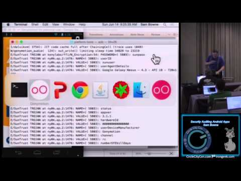 Security Auditing Android Apps Sam Bowne