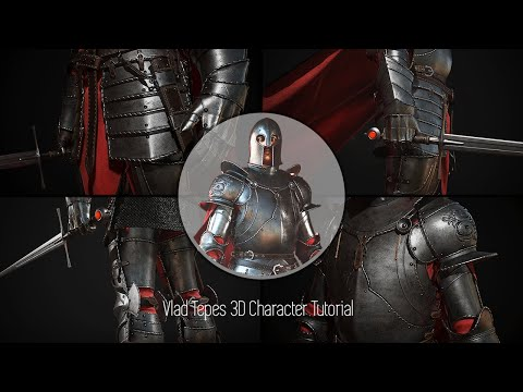 Tibi Neag Dracula Tutorial 11 Modeling helmets, simulating cape in Marvelous