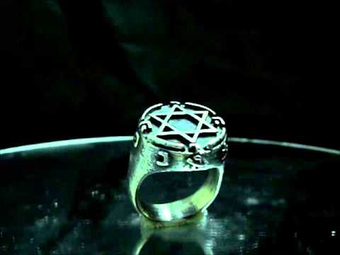King Solomon Ring Protection Power Ring Seal Of Solomon Star Of David by: Antiquity Jewelry