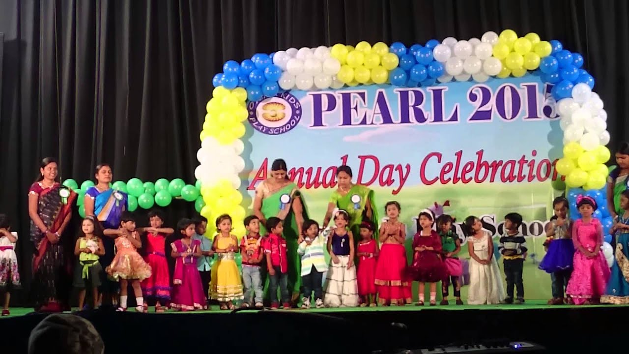 Oyste rkids play school alwal annual day function lo for Annual function decoration